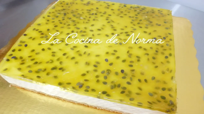Cheesecake frío de chinola